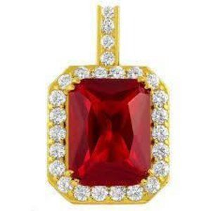 6.45 Carats RUBY and DIAMOND necklace pendant Yell